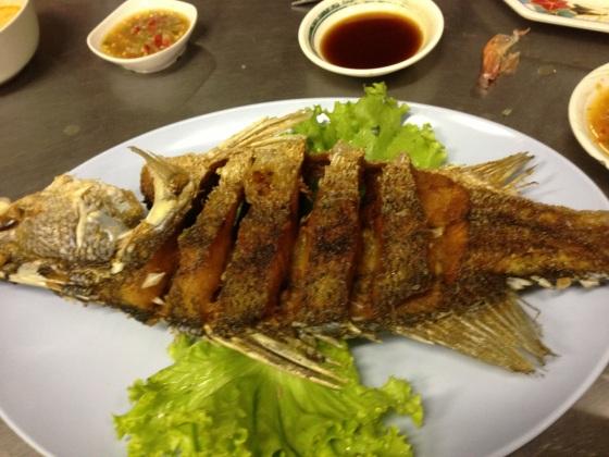 Deep Fried Sea Bass