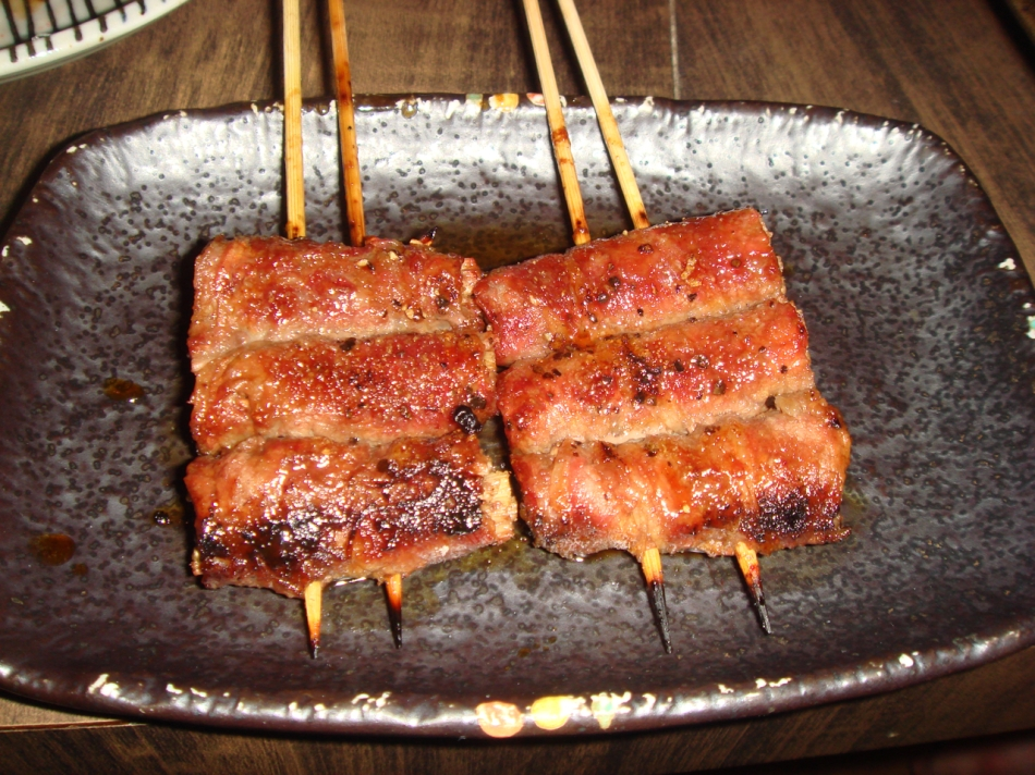 Enoki wrapped in Bacon