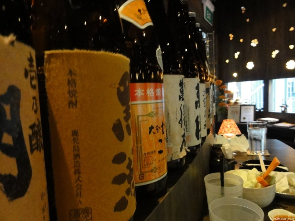 Great selection of sake and shochu