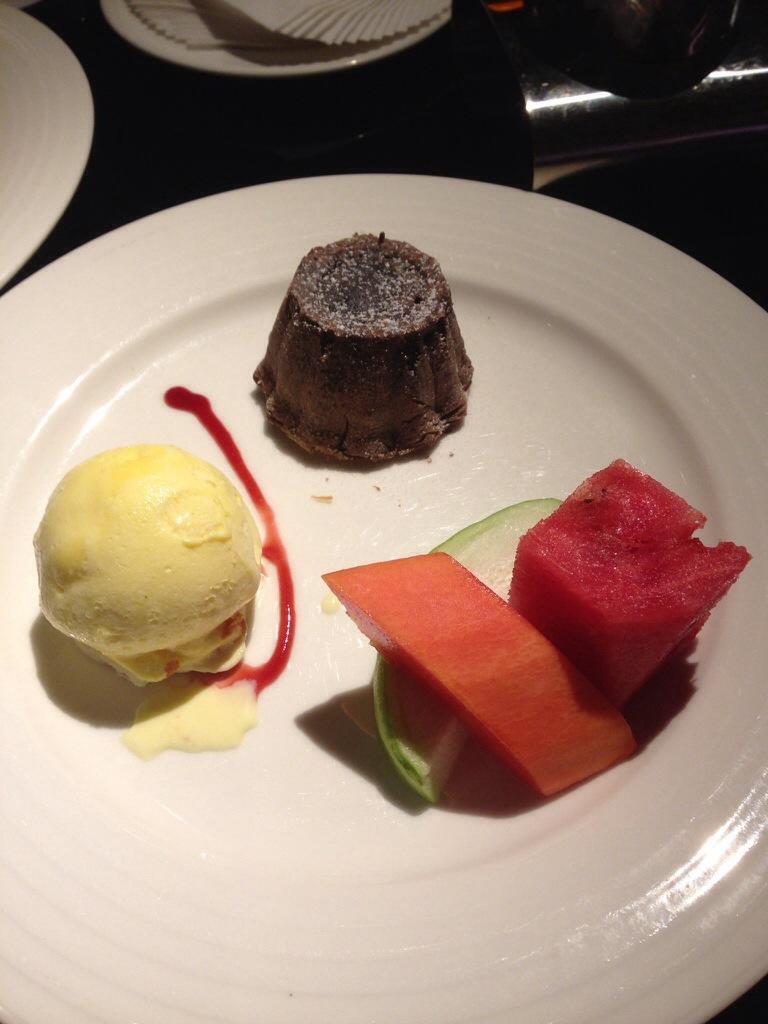 Complementary dessert