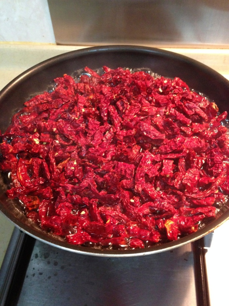 Boiling the dried chilli