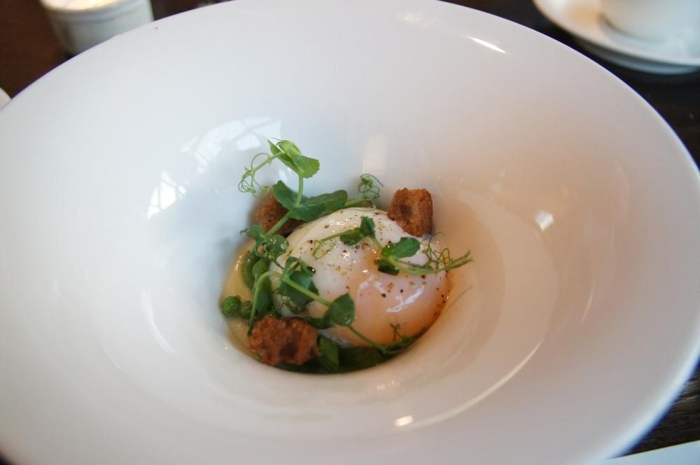 Onsen egg and crouton