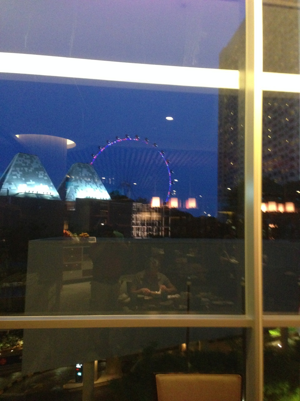 Excellent view of the Singapore Flyer