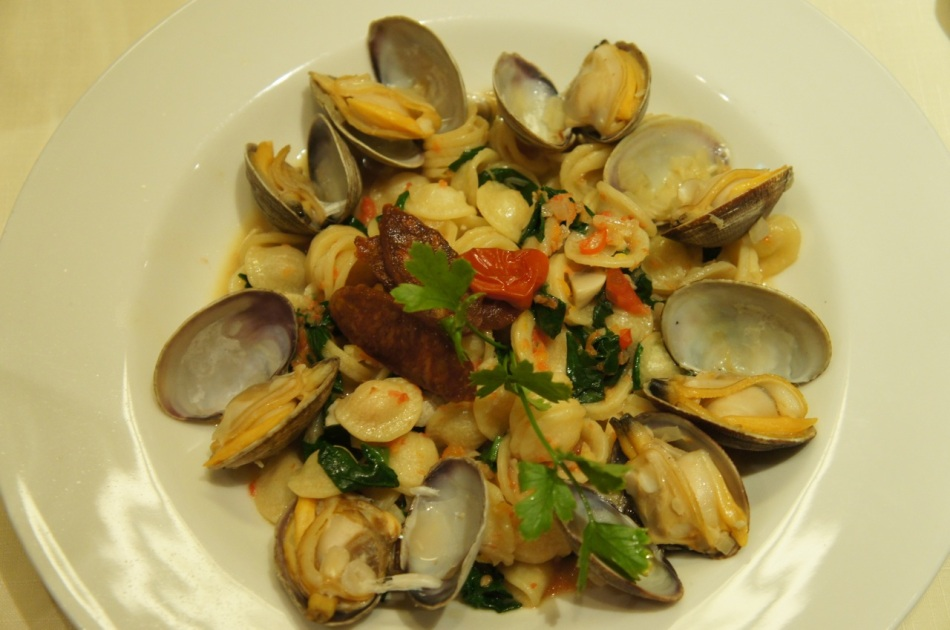 Fettucine with Clams in White Wine Sauce