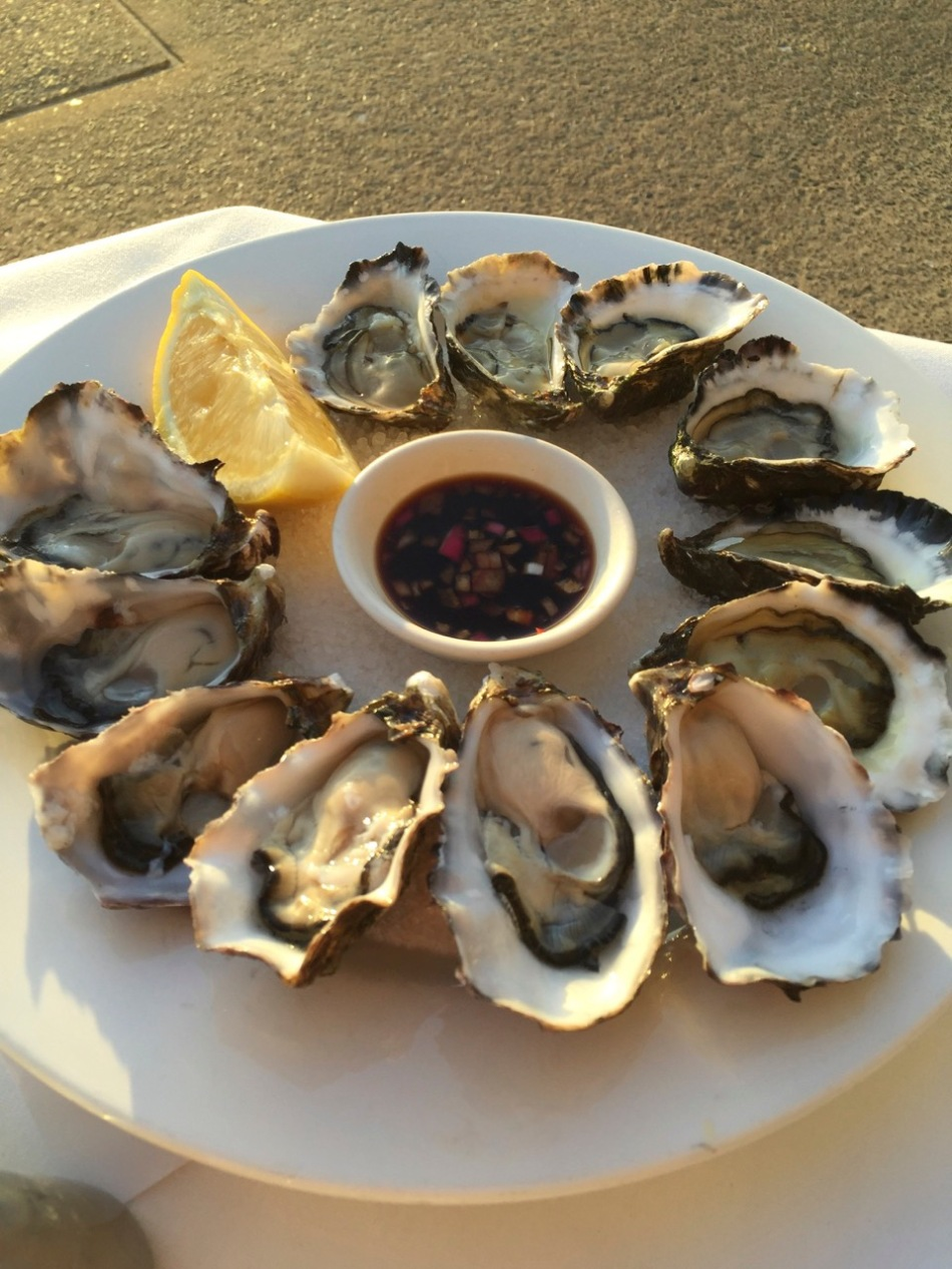 Tasmanian oysters and Pacific Rocks
