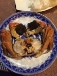 Steamed hairy crab