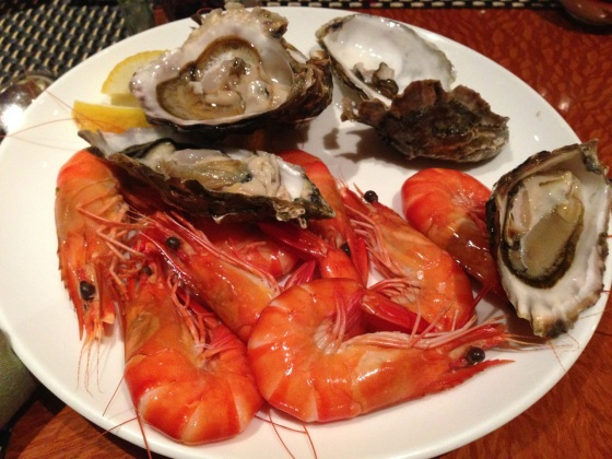Chilled seafood