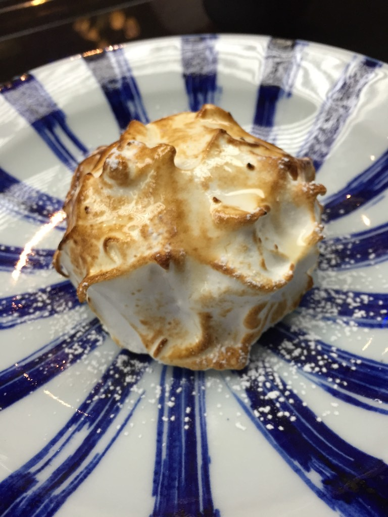 Raspberry Ice Cream with Meringue and Hibiki 21 (Fugu Set)
