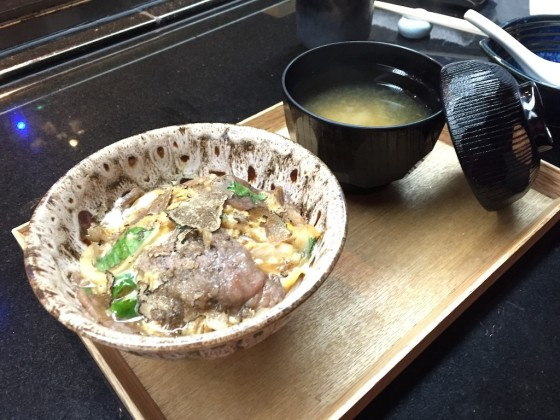 Kagoshima Beef and Black Truffle on Rice with Miso Soup (Winter Set)