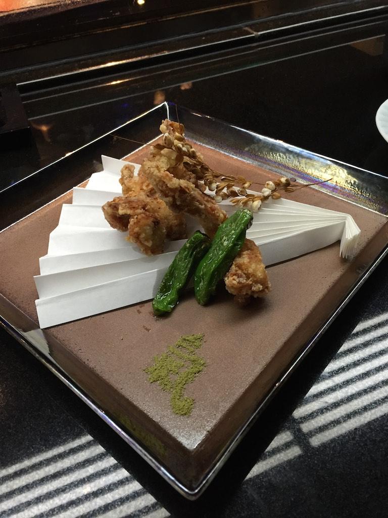 Globefish Karage and Japanese Sweet Green Chilli (Fugu Set)