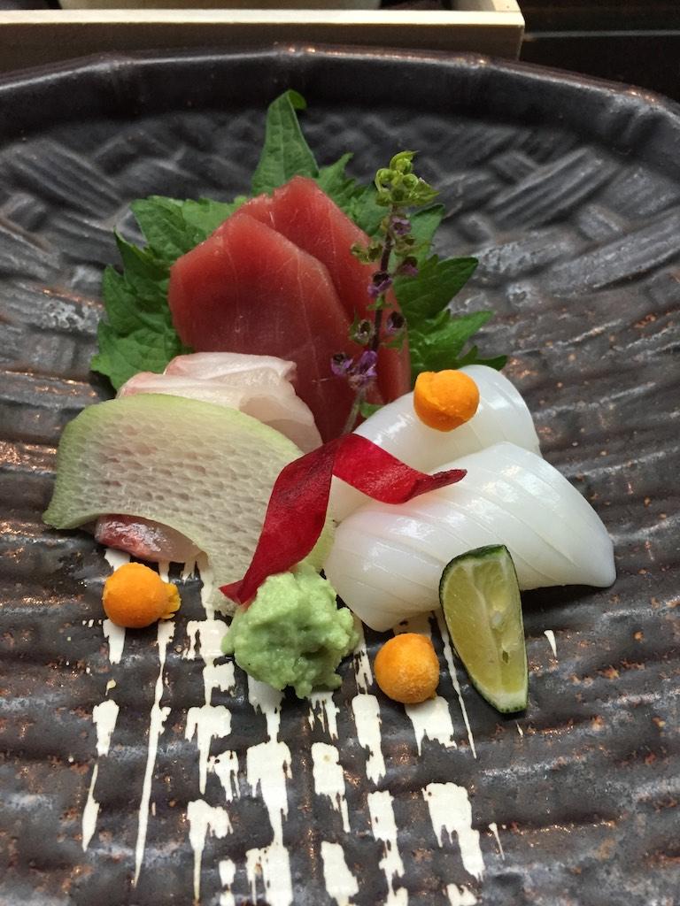 Seasonal Tokusen Sashimi Tuna, Yellowtail, Cuttlefish (Winter Set)