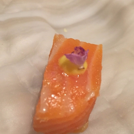 Norwegian salmon confit