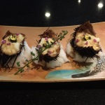 Truffle sea urchin tofu