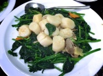 Scallops with Spinach