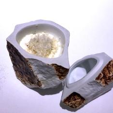 Creme fraiche, coconut shavings, ?