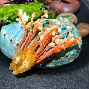 Crispy prawn head