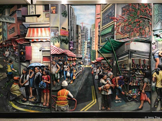 Mural on the MRT station