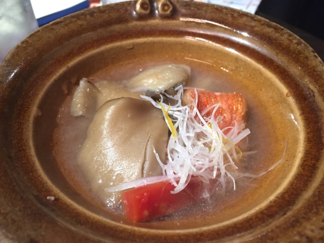 Simmered alfonsino and vegetables