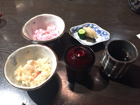 Gohan and miso soup