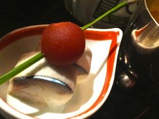 Small mackerel sushi