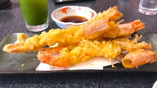 Deep fried king prawn