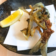 Deep fried sardine bone