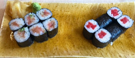 Tuna belly and Tekka