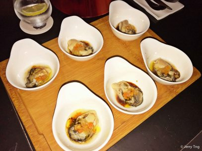 Fresh Oyster with Ponzu and Escabeche