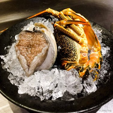 Abalone and lobster