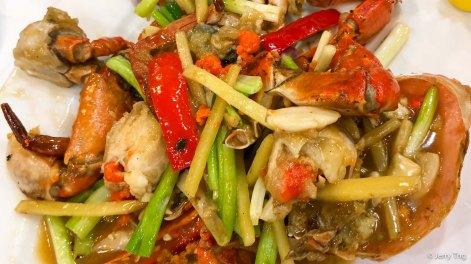 姜葱炒肉蟹