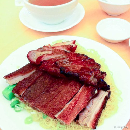 Charsiew and roast suckling pig