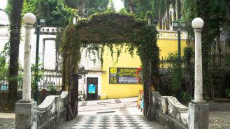 Gate into the compound