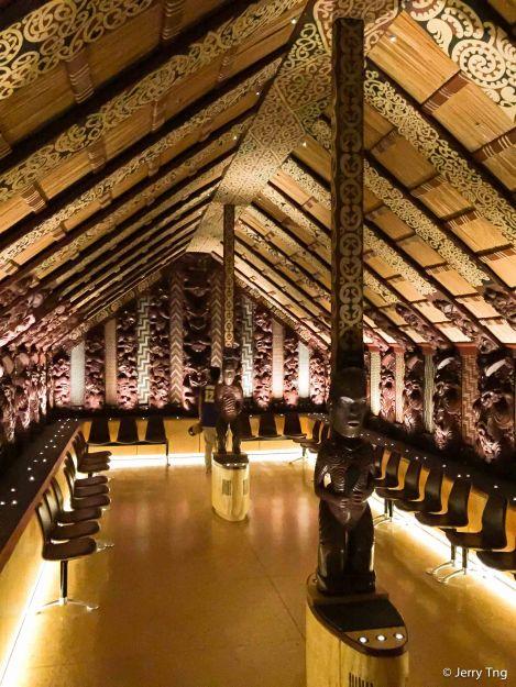 Old Maori huts