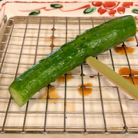 もろきゅう Pickled cucumber