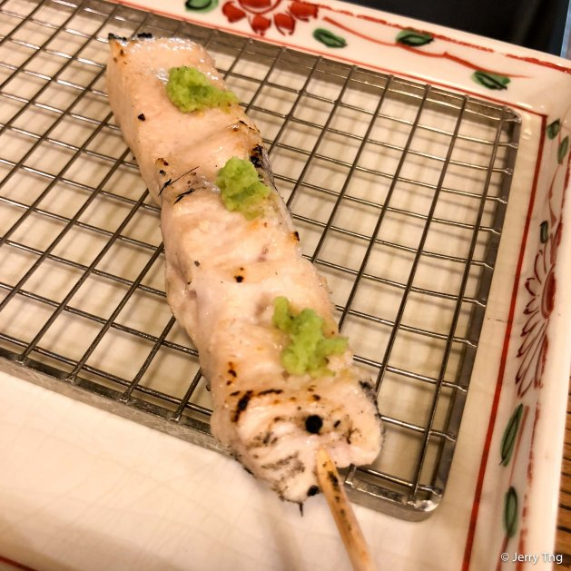 ささみ Chicken with wasabi