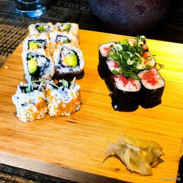 Avocado roll and Tekamaki