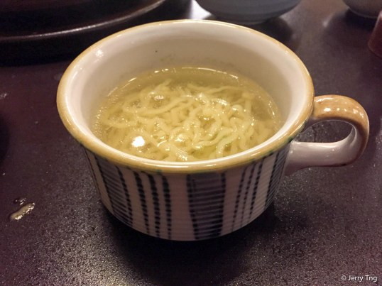 Noodles in soup