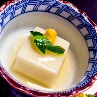 Cold tofu with dashi
