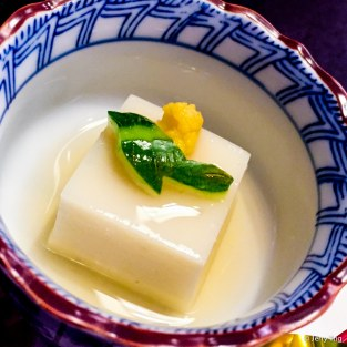 Cold tofu with dashi