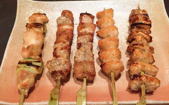 Different yakitori