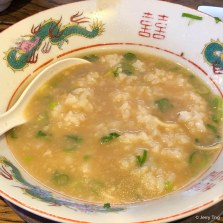 End with rice in soup