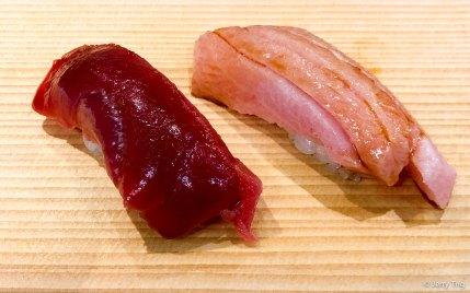 Tuna and fatty tuna