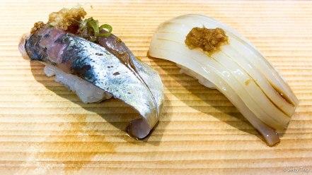 Horse mackerel and squid