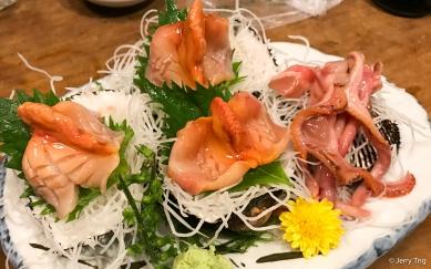 Shellfish sashimi