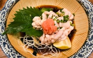 Shiroko in ponzu sauce
