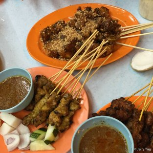 Satay and rojak