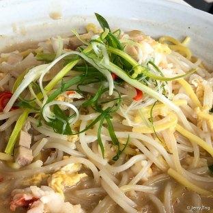 Chef Justin's signature wok fried live Maine lobster Hokkien noodle