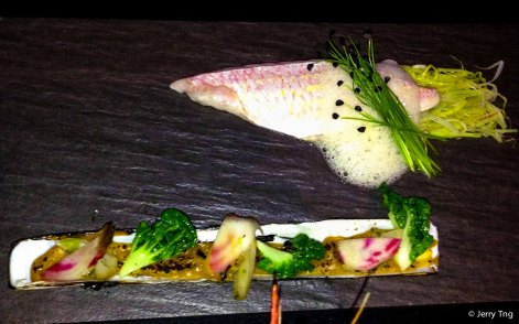 Snapper with bamboo clam