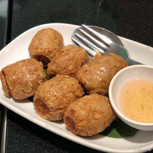 Deep fried minced crab roll