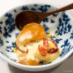 """Baba au Rhum"" goji berry, kaki, salted egg yolk"